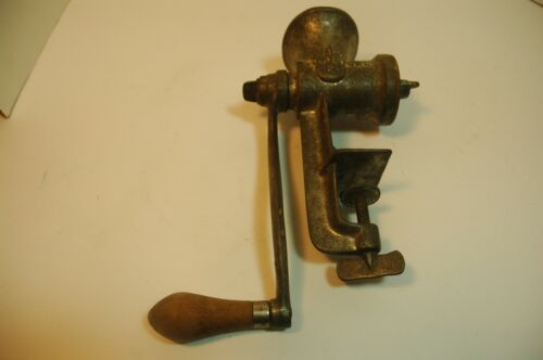 Vintage Keystone 10 Meat Grinder POTTSTOWN PA Wood Handle CL CO