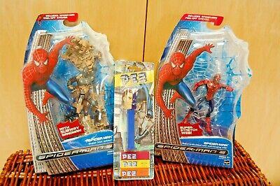 NIP Hasbro Spider-Man 3 Action Figures Subway Sandman & Super Stretch Web +BONUS