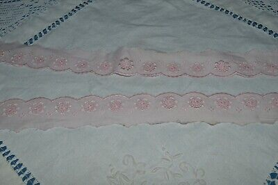 Haberdashery Antique/Braid Embroidered Colours Pink Pattern Flowers 10 M 45/
