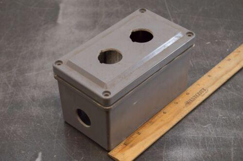 Square D 9001-sky2 Push Button Enclosure 30mm 2 Hole Plastic Gray