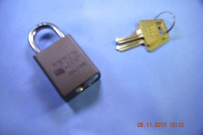American Lock 1105dbrn Series Padlock Solid Alum. Body 14 Hardened Shackle Ka