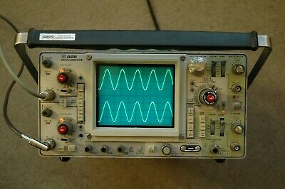 Tektronix 465 100mhz Oscilloscope Calibrated Sn B301656 With 2 Probes