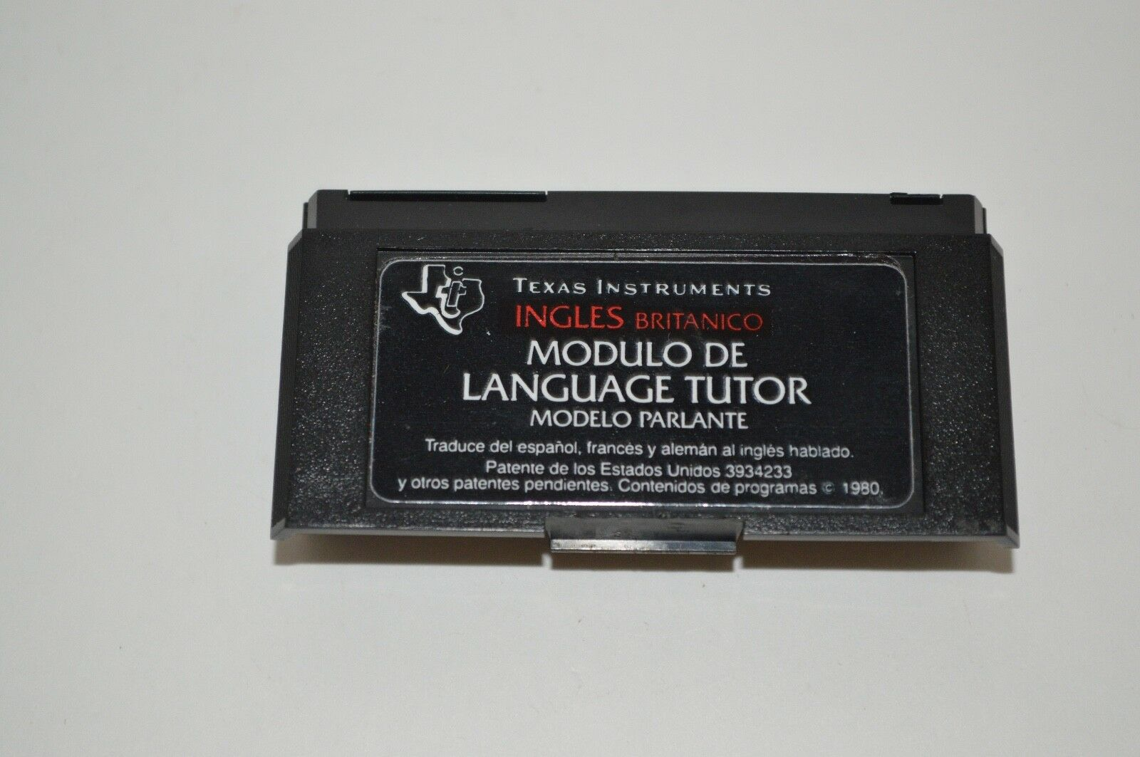 Texas Instruments Language Tutor Spanish Module Only