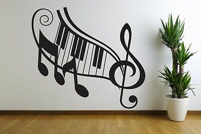 MUSIC NOTE PIANO Home Wall Decal Quote Decor Art Shape Sound