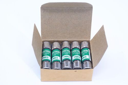 Fusetron FNM-8 8 Amp 250 Volts Fuse - Box of 10  BUSSMAN - NEW