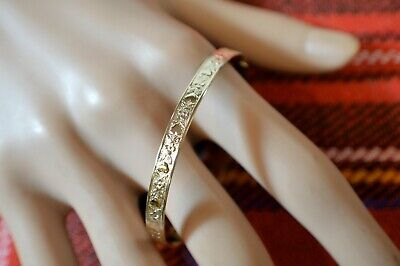 9 ct GOLD second hand expanding heart bangle