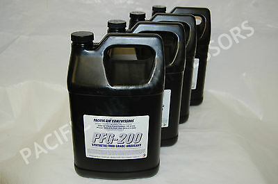 4 Pack Of 1 Gallon Pfg-200 Synthetic Food Grade Reciprocating Compressor Oil
