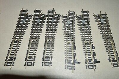 HO scale track Atlas Nickel Silver code 100 switch turnout #4 lot set of 6 L&R Scale Turnout Switches