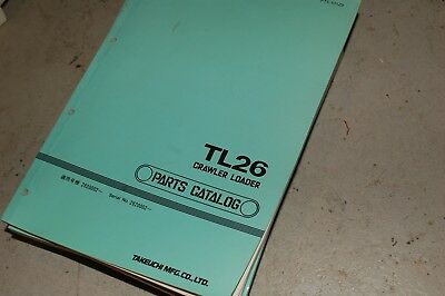 Takeuchi Tl26 Skid Steer Crawler Loader Parts Manual Book Catalog Spare Front En