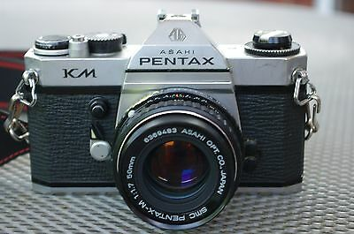 Pentax KM 35mm Film SLR Camera with Pentax-M 50mm F/1.7 SMC Lens