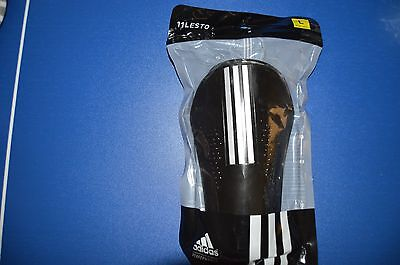 adidas Performance Lesto Shin Guard, Black/White, Large - One pair