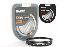 Jacobs Slim  72mm UV Multi Coated Filter Digital for Hoya B&W nikon canon NEW UK