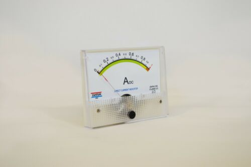 1 AMP DC AMPER PANEL METER CLASS 0.5 - NO NEED SHUNT - MADE IN USA