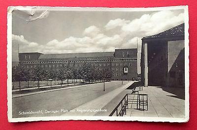Foto AK SCHNEIDEMÜHL um 1930 Danziger Platz mit Regierungsgebäude   ( 4189