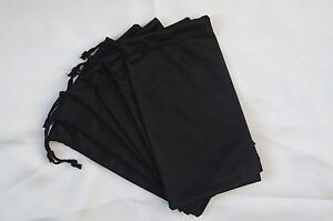 6-pcs-Black-Microfiber-Drawstring-Pouches-Soft-Cases