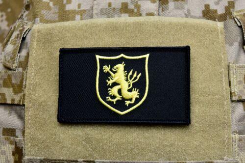 NSWDG Gold Squadron Lion Shield Embroider Patch Black & Gold DEVGRU SEAL Team 6