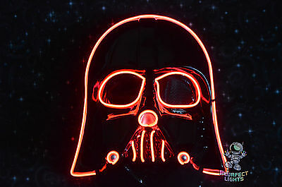 Star Wars RED DARTH VADER Rave Festival Party Cosplay EDC Halloween Costume Mask - Edc Halloween Costumes