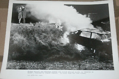 Movie Promotional Photograph/Wedding in Blood 1973/Michel Piccoli burning car