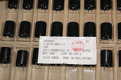 20pcs Power Inductor Coil 1.5mh 0.75a 0.93 Ohm Lhl16nb152j 16mm Taiyo Yuden