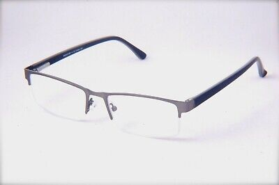 Reading Clear Glasses Compact Lightweight Metal & Plastic half Frame