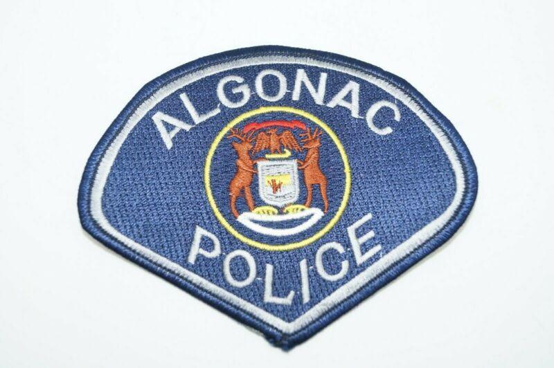 Vintage Obsolete Canadian Algonac Police Sleeve Patch