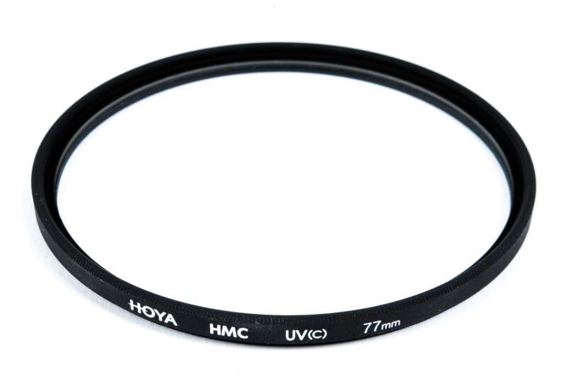Hoya 77mm Ultraviolet Multi-Coated Screw-In Glass Lens Filter - EX