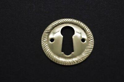 Keyhole cover lock cover escutcheons antique style keyhole solid stamped brass (Antique Keyhole)