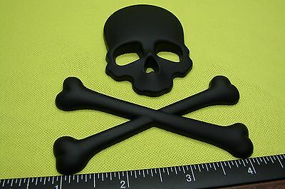 SKULL AND CROSSBONES METAL 3D EMBLEM DECAL STICKER LOGO FOR CARS US SELLER - Skull Crossbones