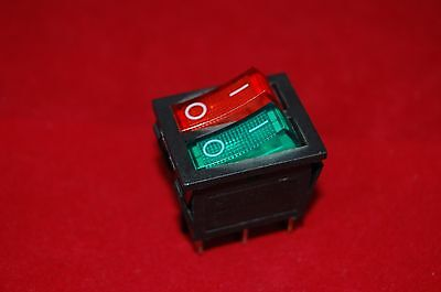 2pcs Double 2 Position Rocker Boat Switch Red And Green Light Illuminated 12v