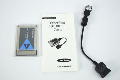 Linksys 10/100 PCMPC Card Etherfast with Dongle and User Guide
