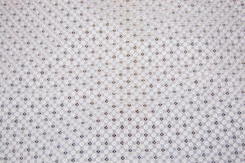 Vintage White Cut Out Dot Lace Sheer 7.25 Yards Polka Dot Yardage