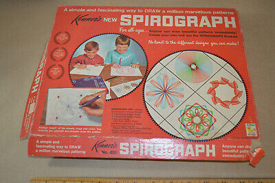 KENNER SPIROGRAPH #401 1967 FIRST ISSUE SEALED WITH INSTRUCTIONS