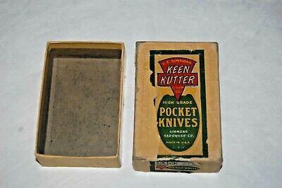 Vintage E. C. Simmons Keen Kutter Pocket Knife Dealer Box No. K 218