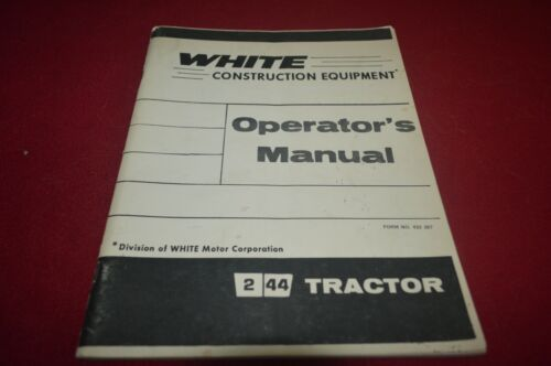 White Oliver Tractor 2-44 Tractor Operator
