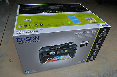 Brand New Epson WF-7610 Wide Format Wireless All-In-One Inkjet Printer MSRP $249