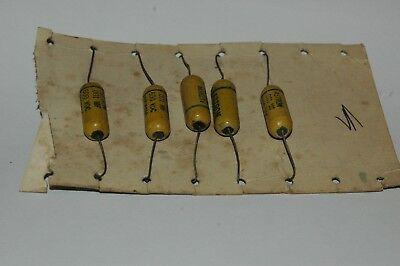 NOS Lot of 5 Vintage Centralab TCZ-27 Tubular Ceramic Capacitors 27MMF 600WVDC