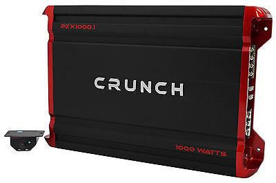Crunch PZX1000.1 1000 Watt Mono Class A/B Car Audio Amplifier Stereo Amp