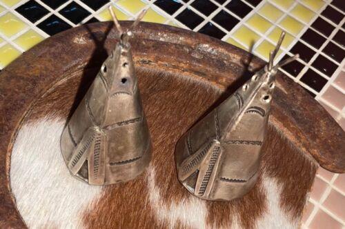 Antique - Sterling, Navajo, Tee Pee - Salt & Pepper Shakers, - Rare, Fred Harvey