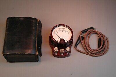 Working Vintage Bakelite Weston Electrical Instrument Corp. Model 528 Ammeter