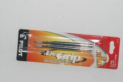 Pilot Dr Grip Center Of Gravity Refill Med Black 2pk 77271