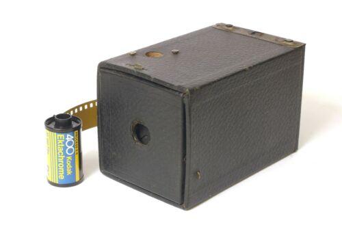 F90483~ Kodak No. 1 Brownie Camera Model B -Shutter Working –Clean –No Key