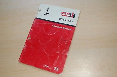 Case Ih 2255 Front End Loader Owner Operator Operation Manual Book Guide Tractor