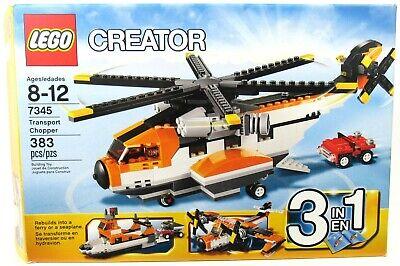 LEGO 7345 Creator 3-In-1 Transport Chopper 100% Complete W/ Instructions & Box