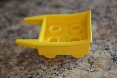 Vintage Lego Duplo Yellow Wheelbarrow from 1980 (No Moving Wheels)