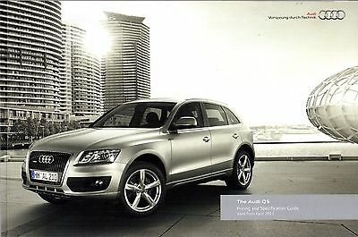 Audi Q5 2011-12 UK Market Sales Brochure Standard SE S line Special Edition