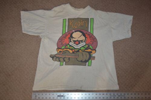 VTG KORN XL SHIRT TSHIRT WORN DISTRESSED THRASHED CLOWN ROCK 1996
