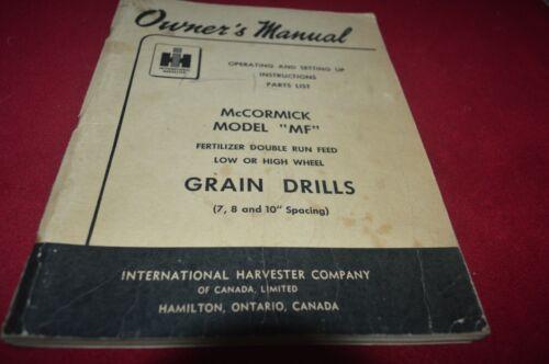International Harvester MF Grain Drill Operator