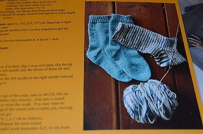 Easy Sock Knitting Patterns - Knitting Pure & Simple Knitting Pattern 245 Easy Child's Lightweight Socks