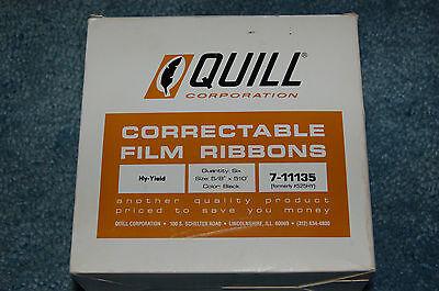 Quill Ibm Selectric Electric Typewriter Correctable Ink Ribbon Film Cartridge