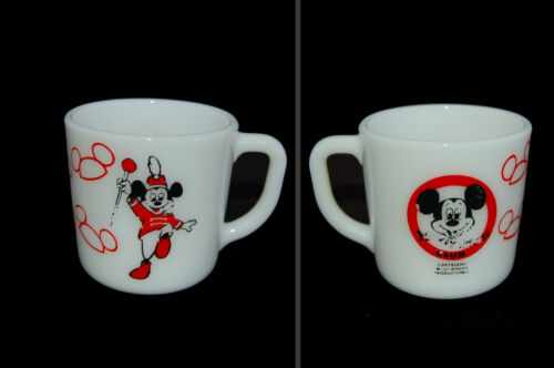 MICKEY MOUSE Westfield milk glass cup/mug marching club